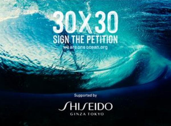 SHISEIDO、We Are One Ocean・30x30公式パートナーに